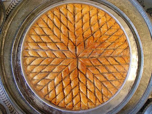Baklava - przykład wzoru w fotografii kulinarnej