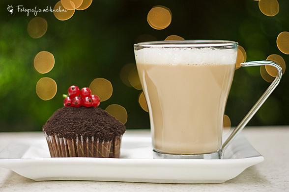 Muffinki czekoadowe z kemem mascarpone