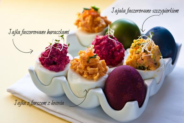 Jajka faszerowane na trzy sposoby