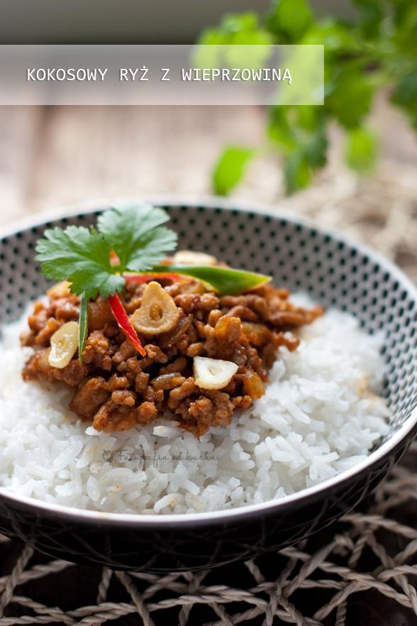 Kokosowy ryż z wieprzowiną