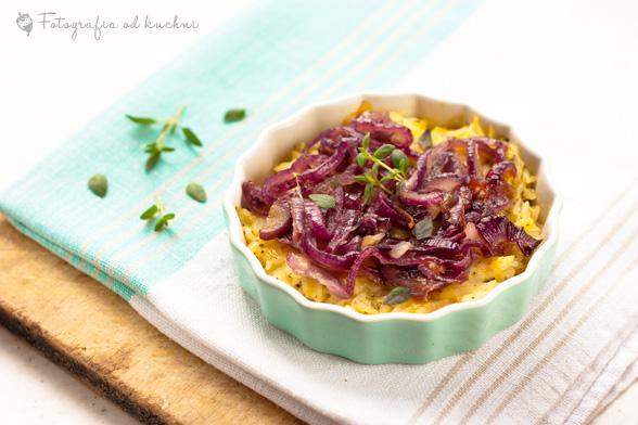 Tarta ryżowa z karmelizowaną cebulą