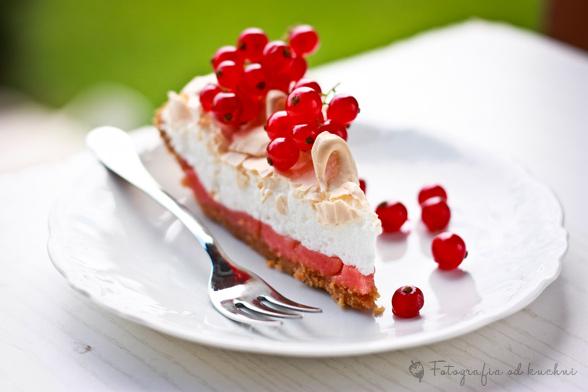 Tarta z czerwoną porzeczką - red currant meringue pie