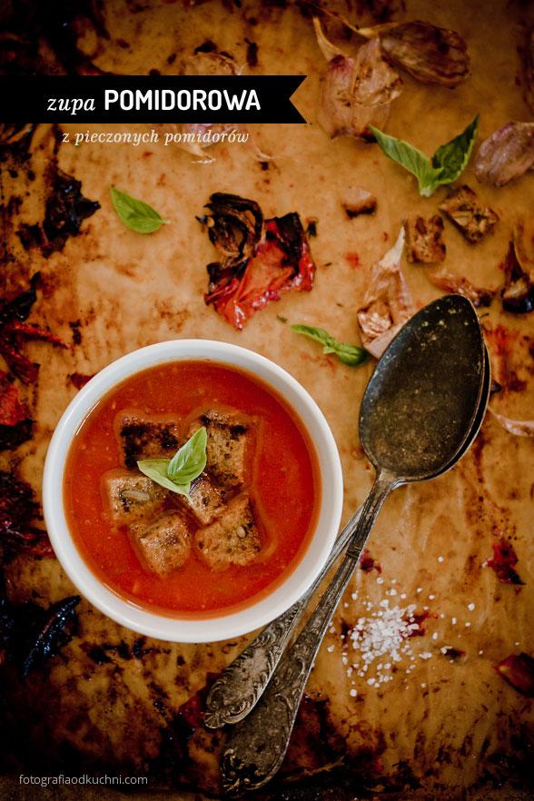 Kremowa zupa pomidorowa z pieczonych pomidorów
