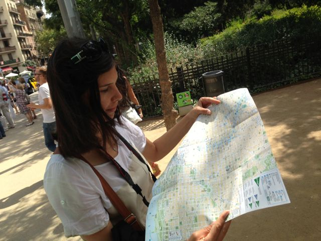 Zwiedzanie Barcelony z mapą :)
